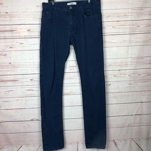Zara Man Blue Color Straight Leg Jeans Size 32